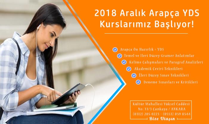 2018 Aralık Online Arapça YDS Kursu